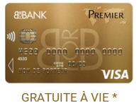 Carte Visa Premier gratuite sur le compte bancaire BforBank